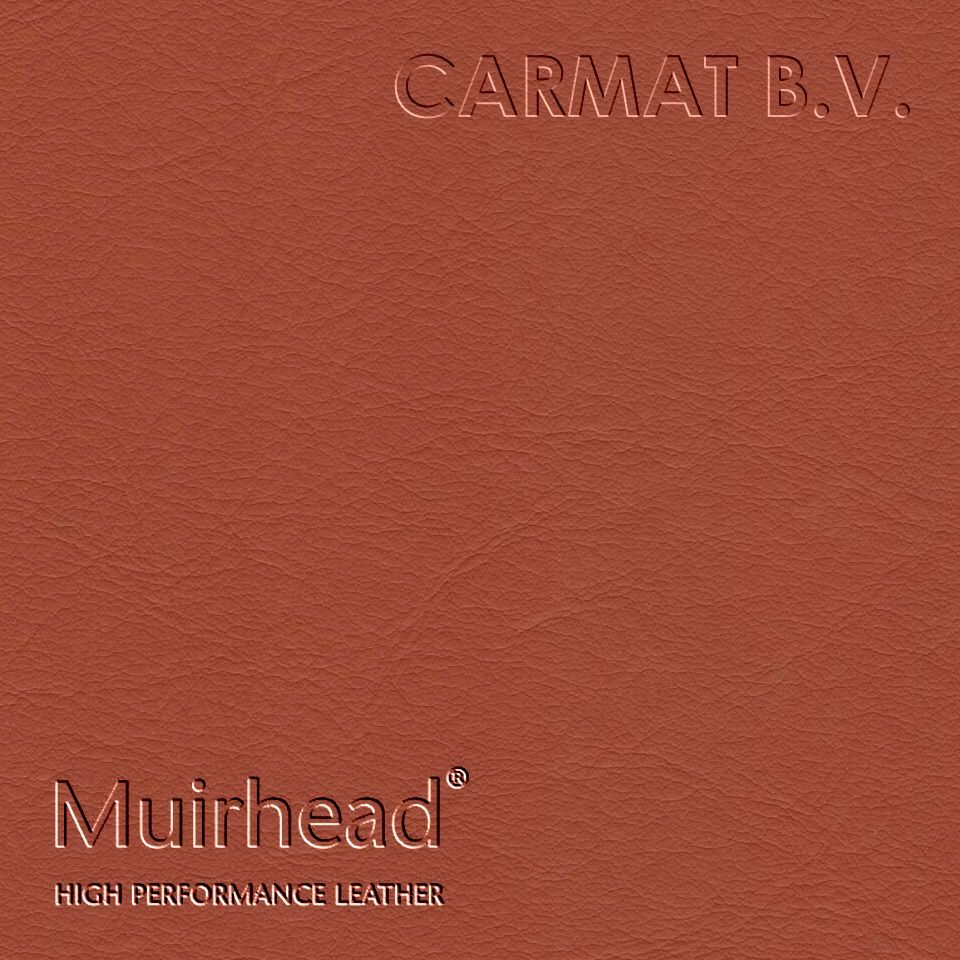 Samplebook Design: Leather Hide Muirhead Caledonian Burnt Orange Per Hide
