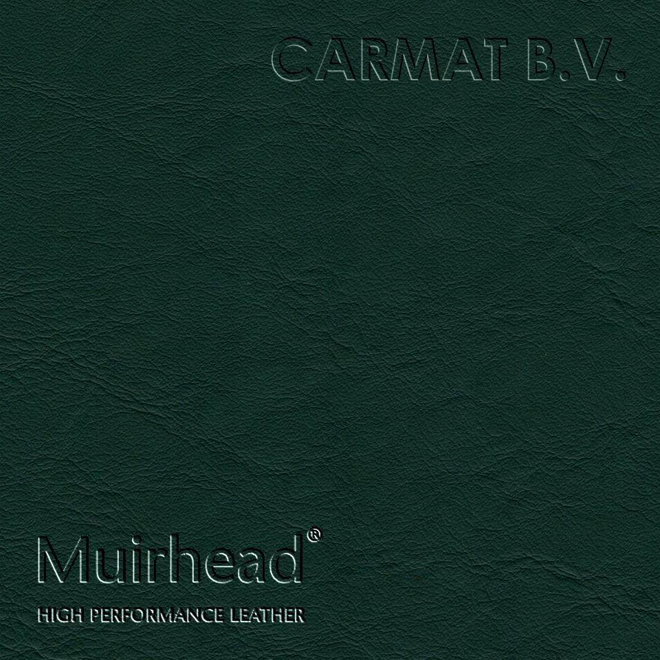 Samplebook Design: Leather Hide Muirhead Caledonian Bottle Green Per Hide